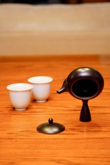 Serving Traditional Tea
