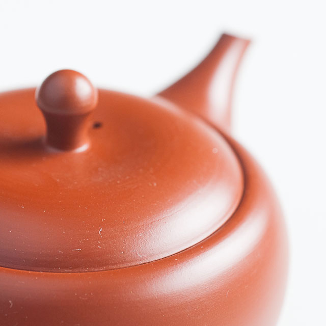 Red Tokoname Tea Pot Lid