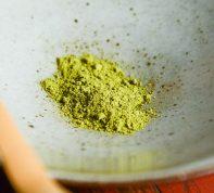 Powdered green tea of the sun
